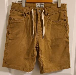 Rumors tan khaki shorts with drawstring
